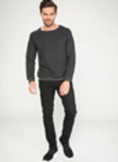 DeFacto Slim Fit Sweatshirt Gri